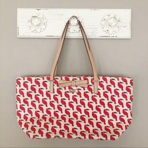 Kate Spade South Poplar Street Red Toucan Tote Bag